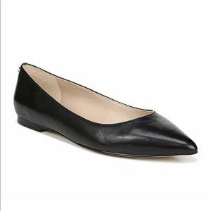 Sam Edelman Rae Black pointed toe leather flats